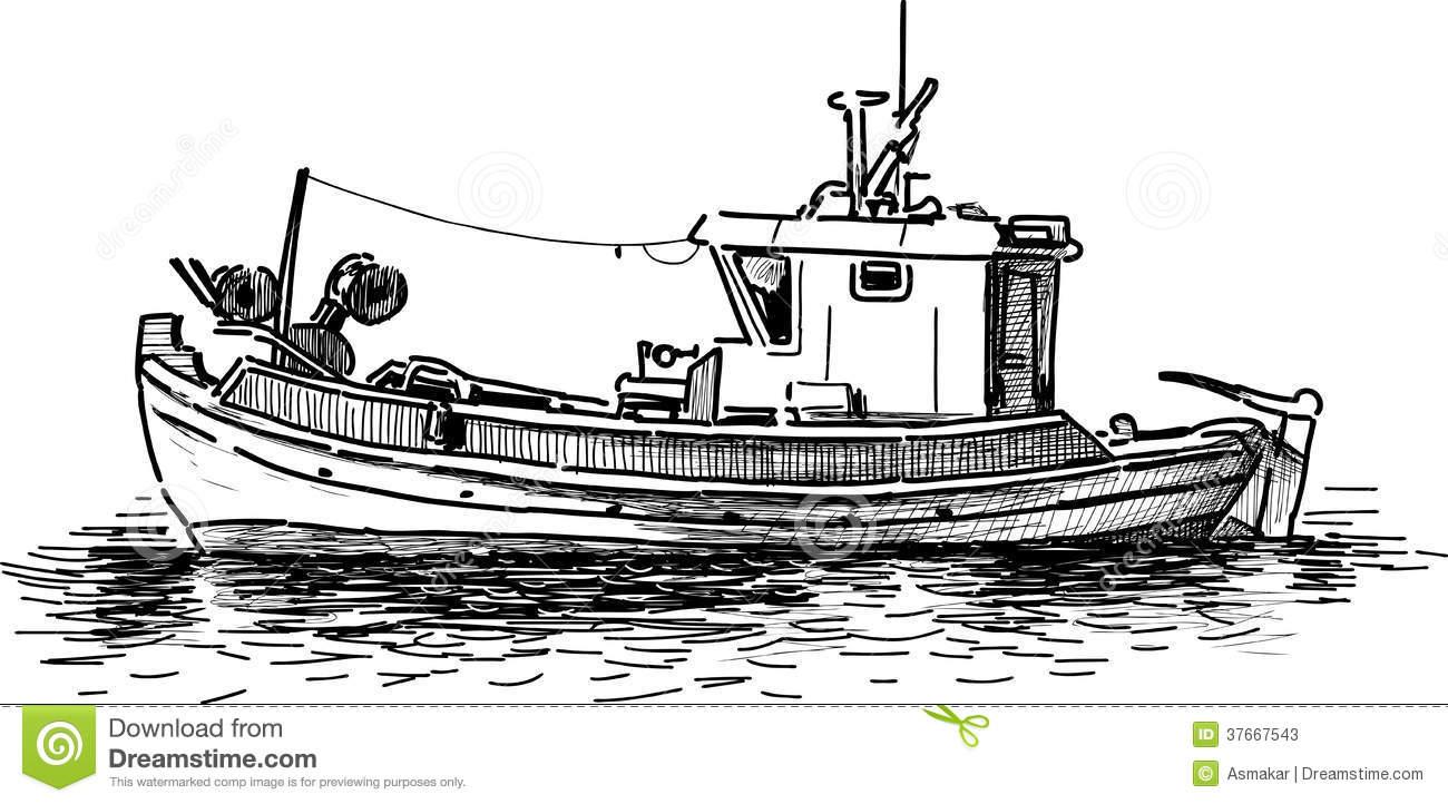 Fishing Boat Royalty Free Stock Image.