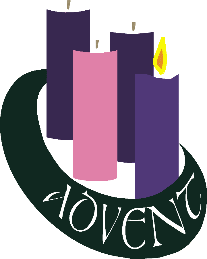 First Sunday Of Advent Candle Clipart.