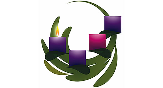 Advent 1 wreath clipart.