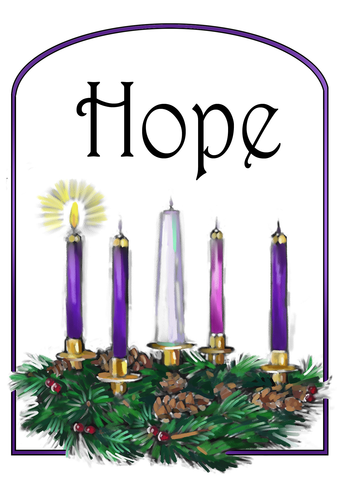 1st Sunday In Advent Clipart.