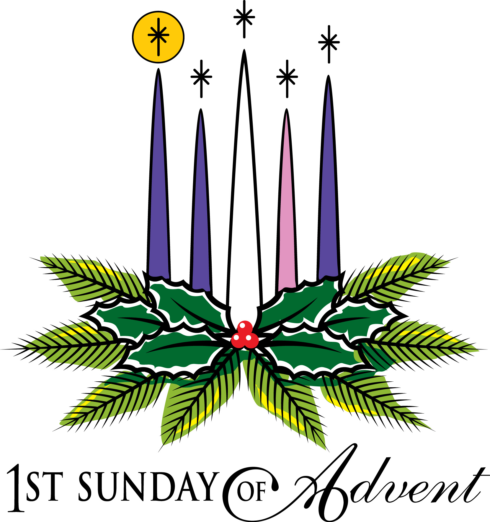 Advent clip art religious sunday.
