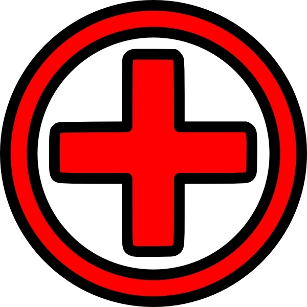 First Aid Icon clip art Free vector in Open office drawing svg.