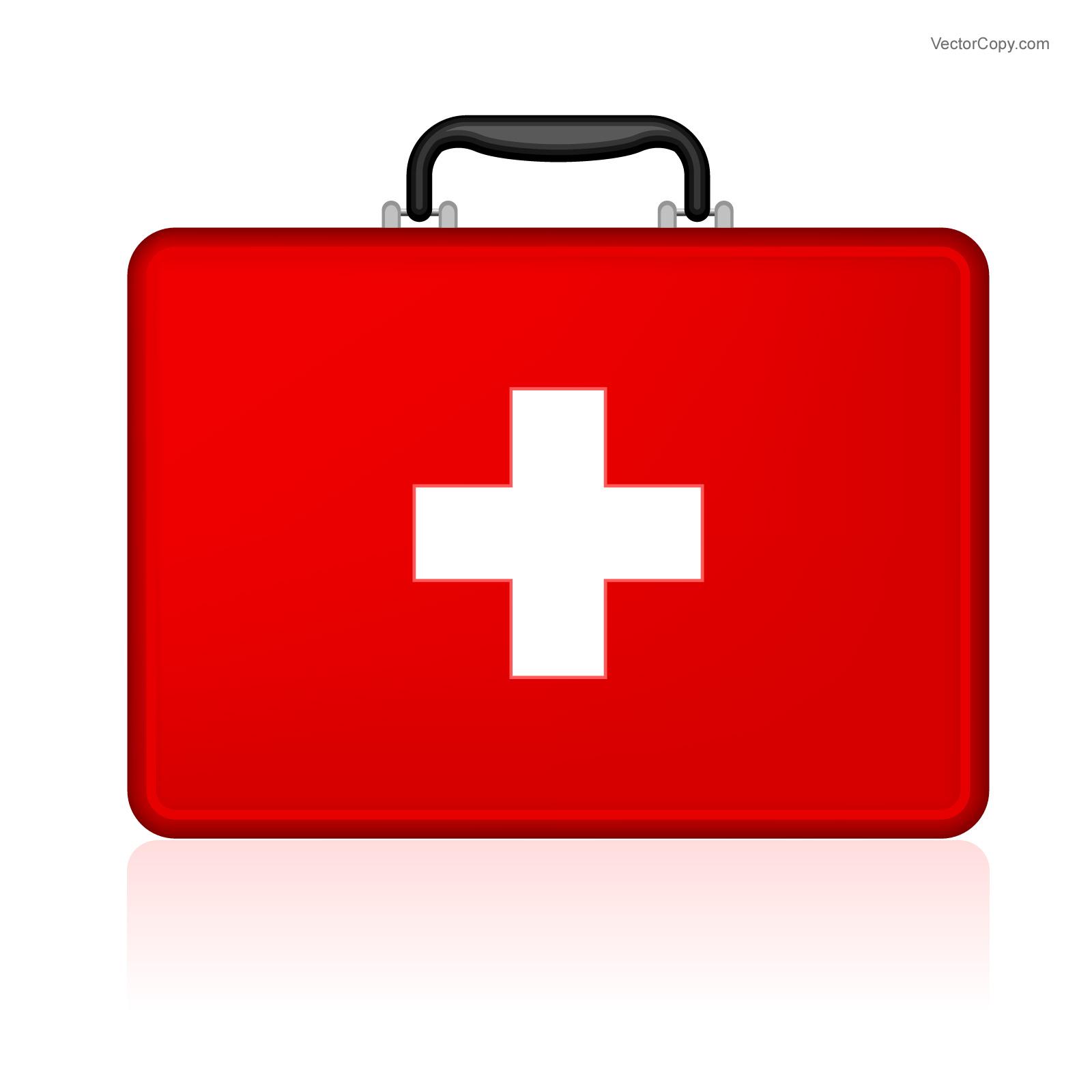 First aid bag clipart.