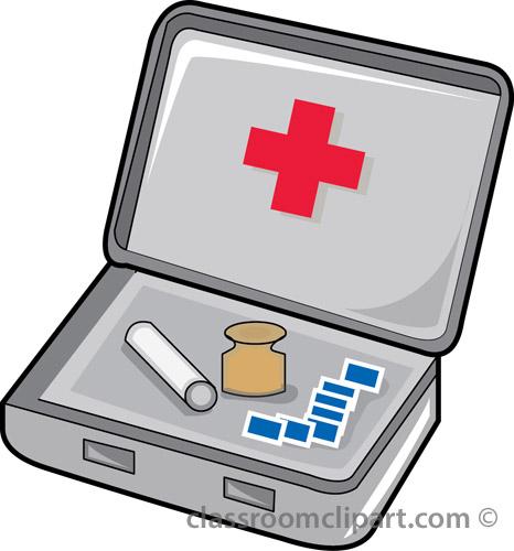 Emergency First Aid Kit Clip Art.