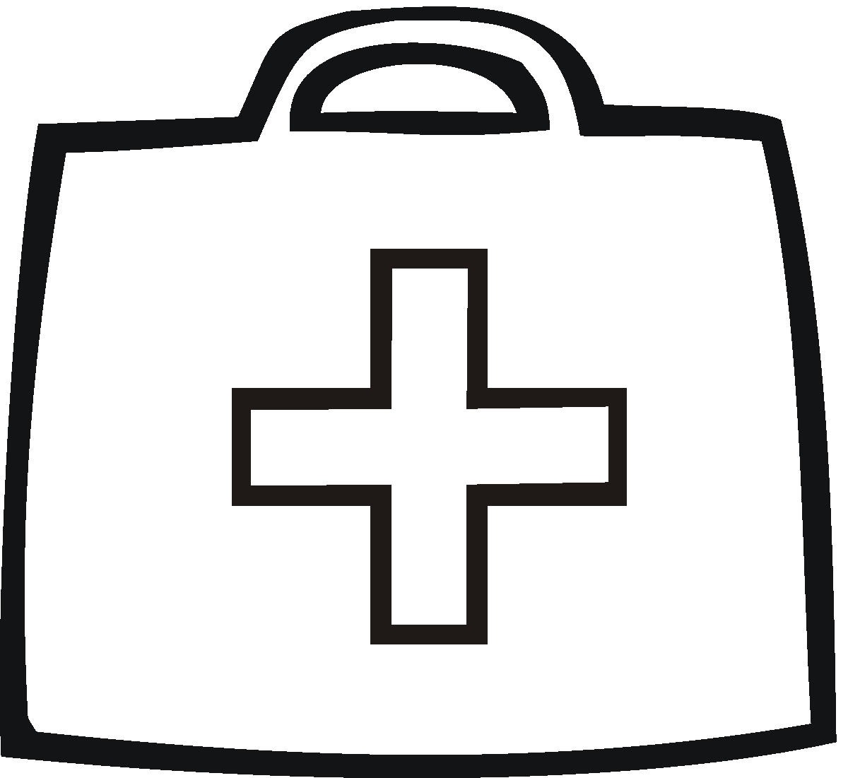 Free First Aid Kit Clipart Black And White, Download Free.