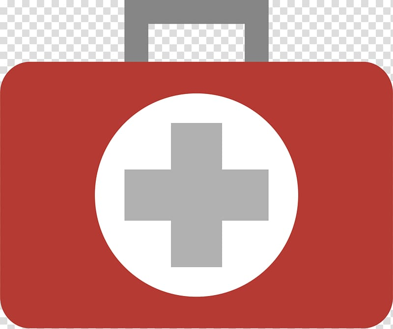 First aid kit transparent background PNG clipart.
