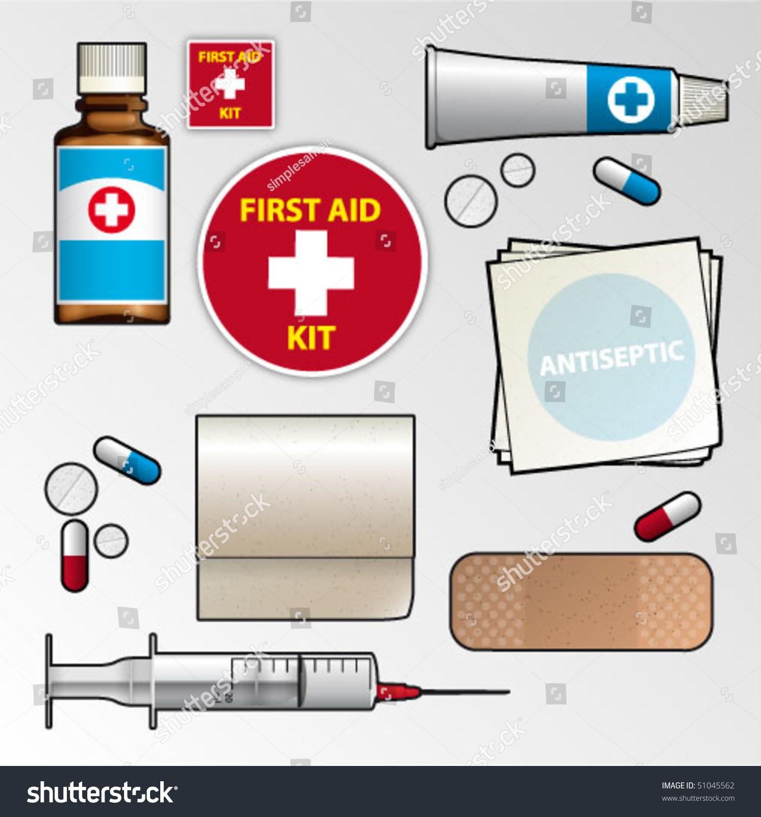 First aid kit supplies clipart 1 » Clipart Portal.