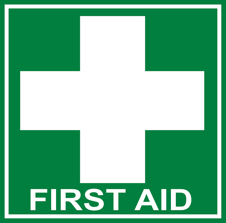 First Aid Help Cross.