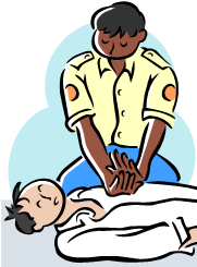 First aid training clipart.