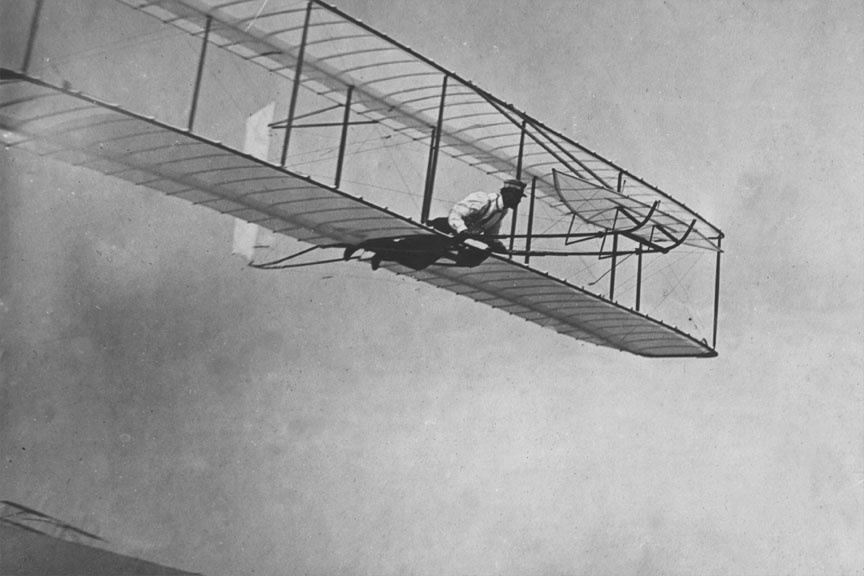 Wright Brothers First Airplane Clipart.