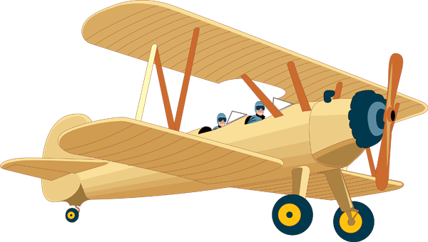 First Airplane Clipart.
