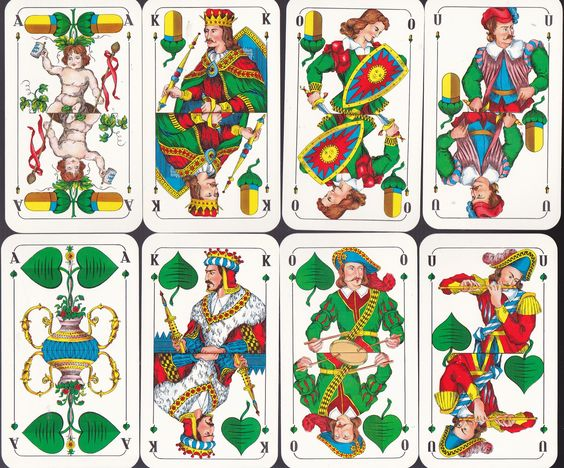 "Anthony L. esq: ""schafkopf"" ( bavarian pattern playing cards."