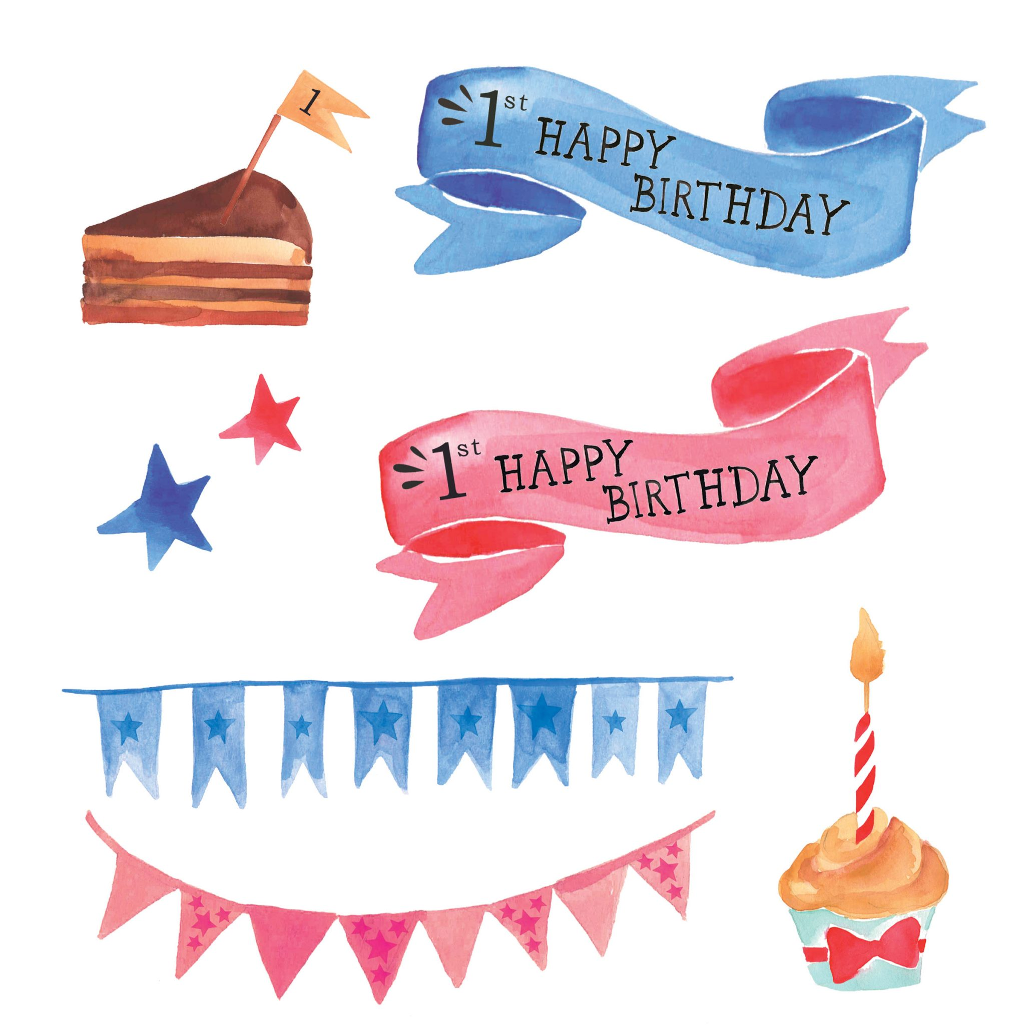 1st birthday clip art.