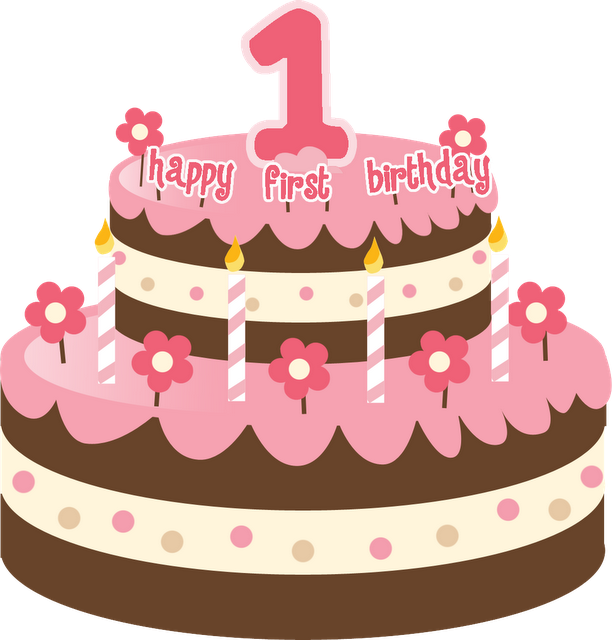 1st birthday clipart images.