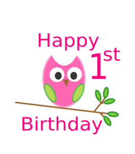 First Birthday Clipart.