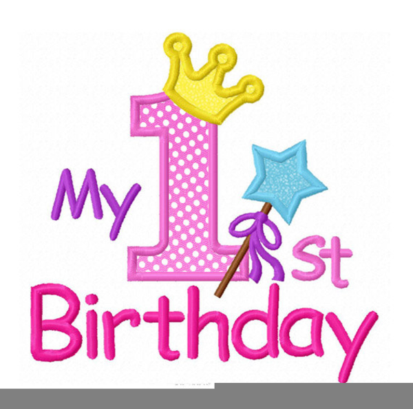 Minnie Mouse First Birthday Clipart.