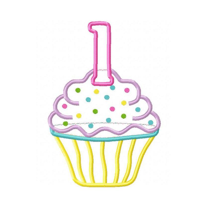 867 Birthday Cupcake free clipart.