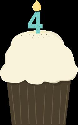 Fourth Birthday Cupcake.