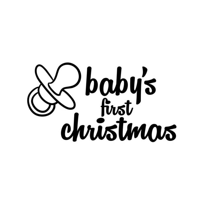 babys first christmas letter phrase Graphics SVG Dxf EPS Png Cdr Ai Pdf  Vector Art Clipart instant download Digital Cut Print File Cricut.