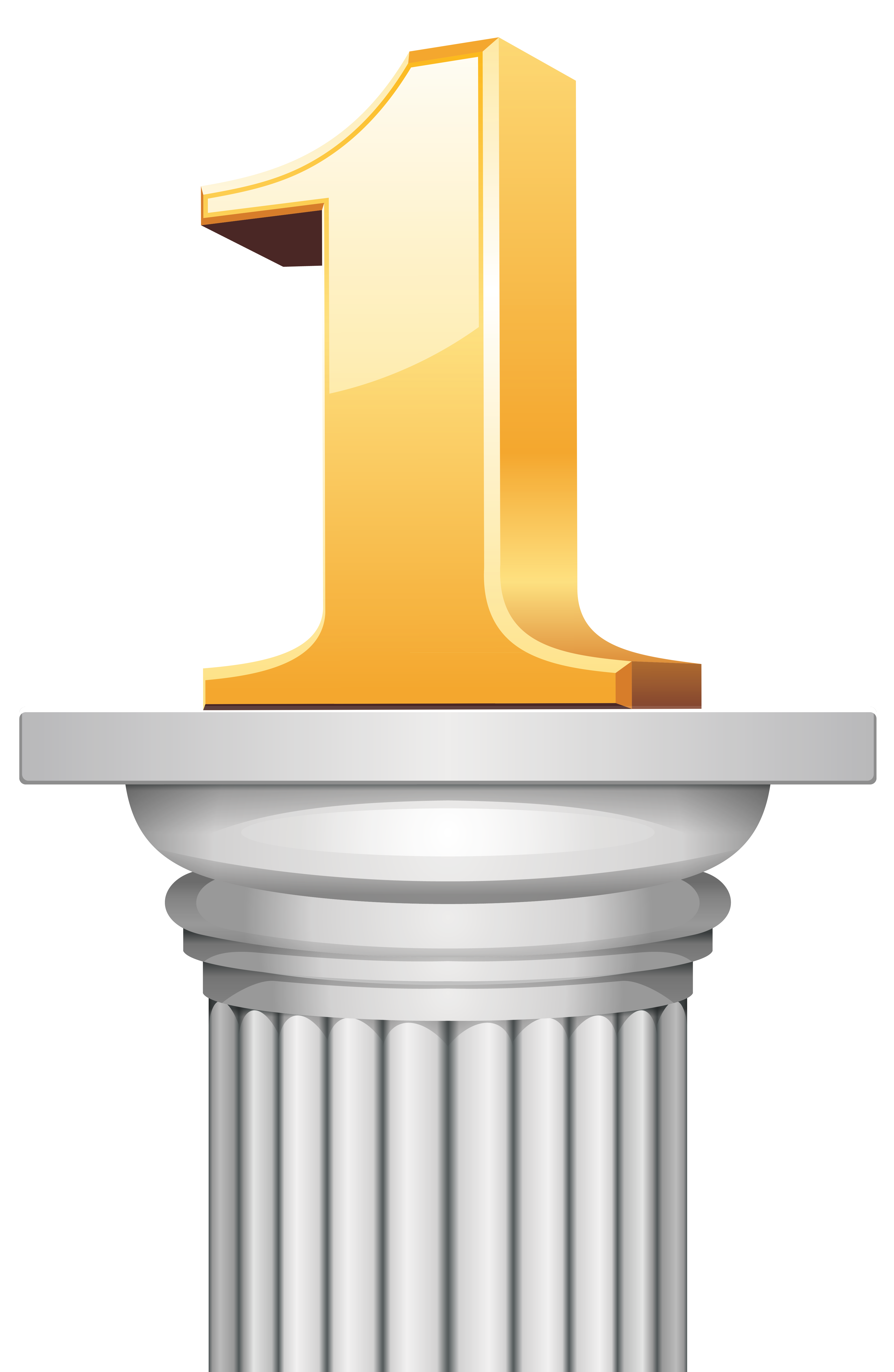 First Place Statue PNG Clip Art Image.
