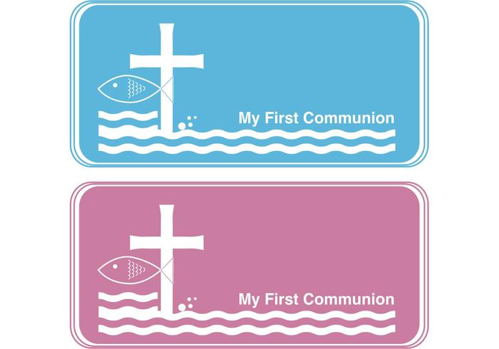 First Communion Banner Vectors.
