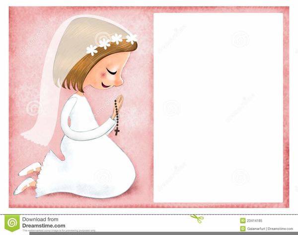 First Communion Border Clipart.