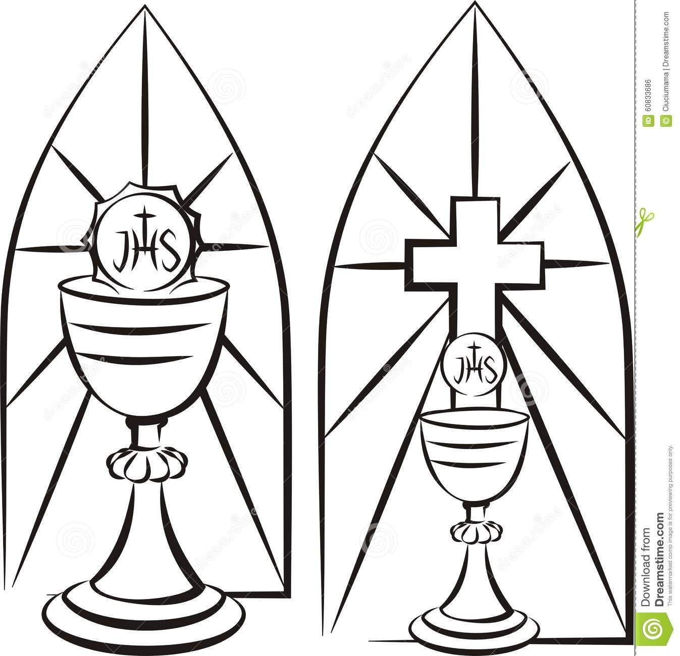 Image result for Stain Glass First Communion Banner Template.