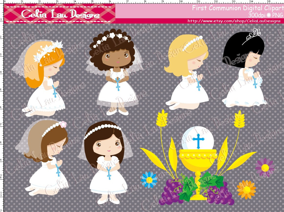 Cute first communion clipart.