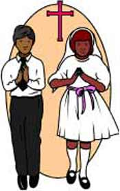 Catholic First Communion Cross Clip Art.