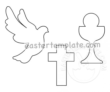 First Holy Communion Cross dove chalice.