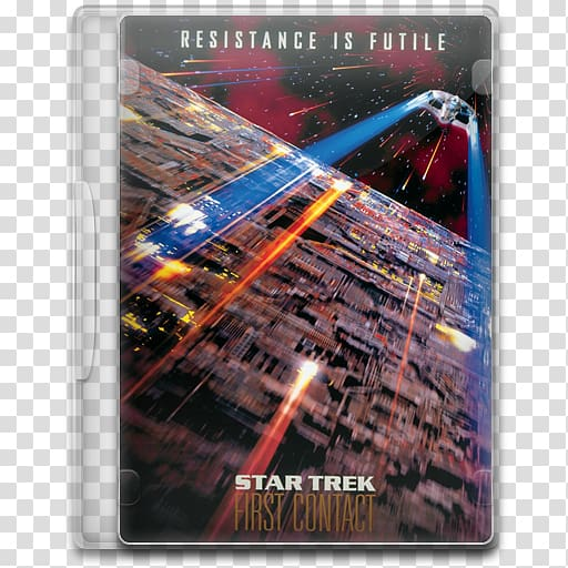 Spock Star Trek Film poster, First Contact Day transparent.