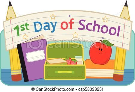 First day school. Back to school clip.