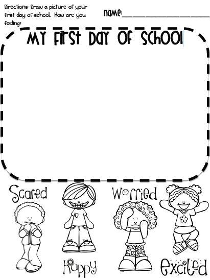 Clipart Images Of First Day Jitters.