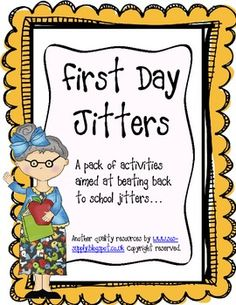 First Day Jitters Clipart.