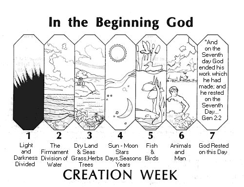 first day of creation clipart