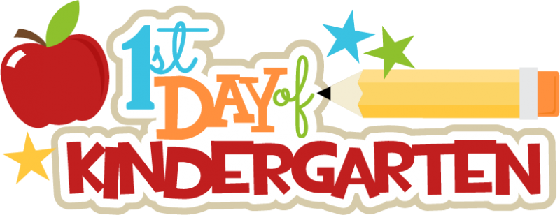 First Day Of Kindergarten Clipart at GetDrawings.com.