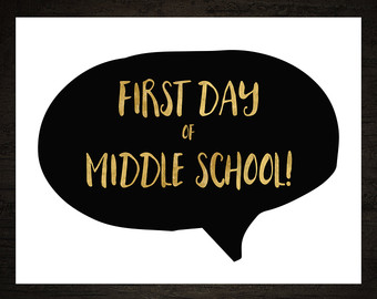 First Day Of Middle School Clipart.