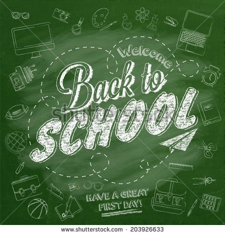 Welcome Back School Typographical Background On Stock Vector.