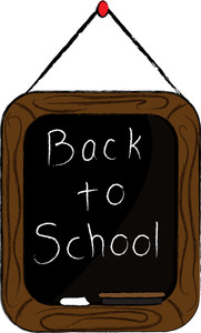 First Day Of School Chalkboard Clipart.