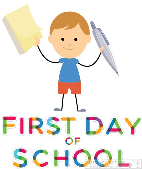 First day of school clipart #11