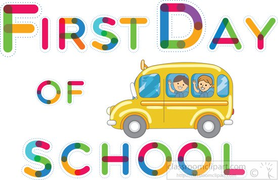 First Day Of School Clipart & First Day Of School Clip Art Images.