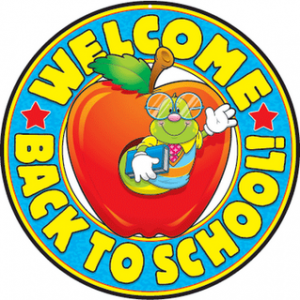 Clipart of first day of school.