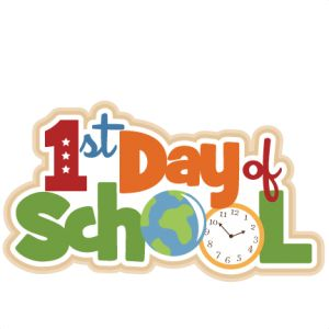 My First Day At School Clipart.