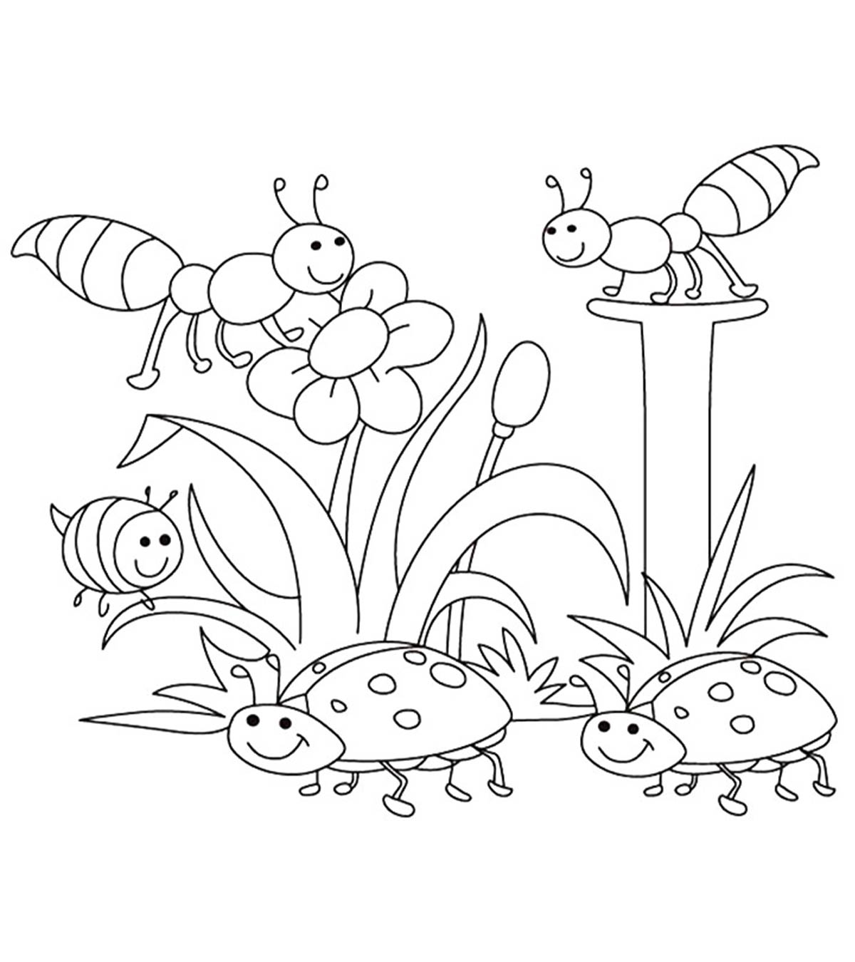 Top 35 Free Printable Spring Coloring Pages Online.