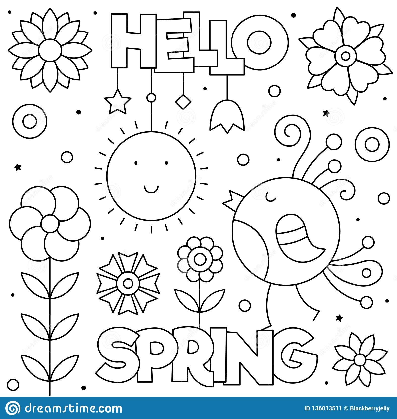 coloring ~ Tremendous Spring Coloring Book Pages Hello Page.