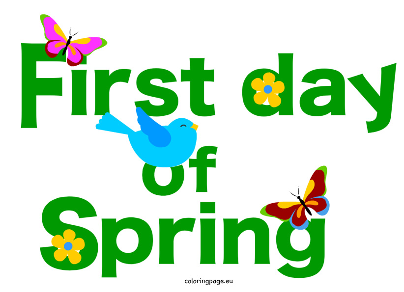 First Day Of Spring Clipart Butterfly.