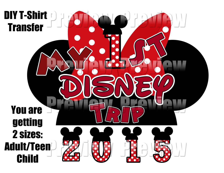 Digital Mouse Hat Iron on DIY First Disney Trip T.