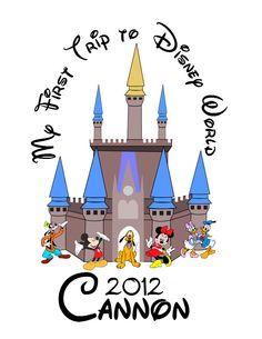 Free My First Disney Trip Clipart.