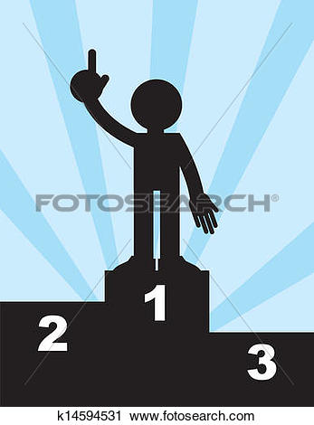Clipart of Figure First Place k14594531.