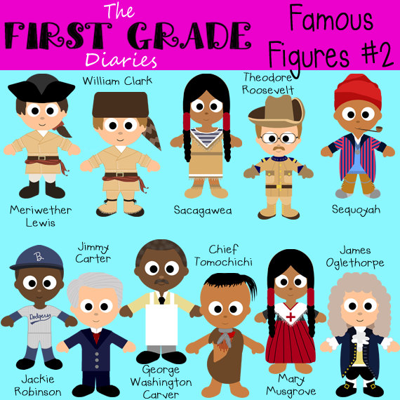 Famous Figures Set 2 Digital Clip Art by TheFirstGradeDiaries.